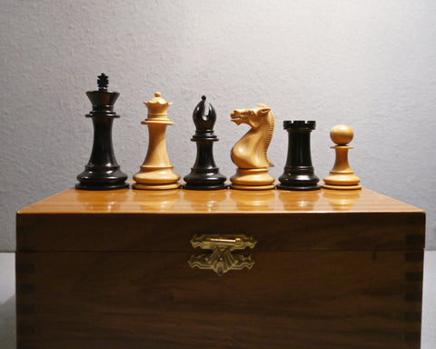 Staunton Boxwood & Ebony Chess Set