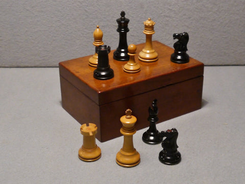 Staunton Pattern Chess Set, circa 1900