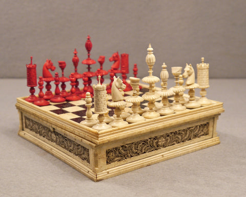 Miniature Swiss Chess Set, 19th century