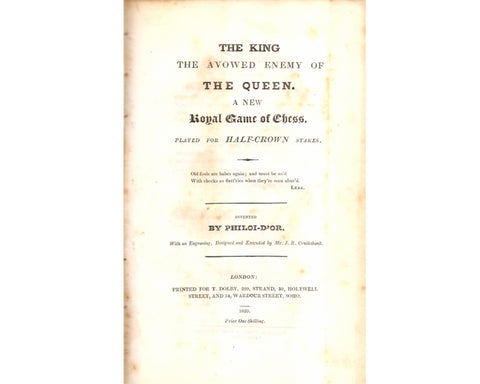 The King The Avowed Enemy, 1820