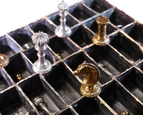 WMF silver-plated chess set, German, 1896