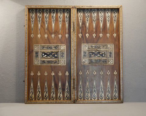 Antique Turkish Chess & Backgammon Board