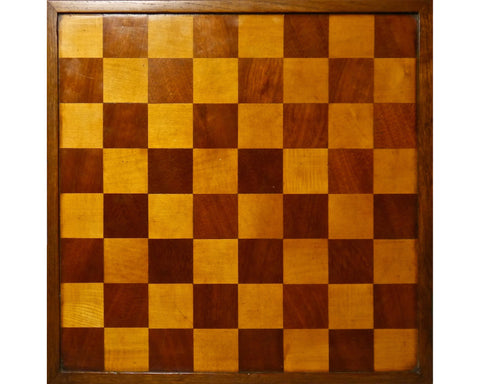 English Mahogany Chess Board, circa 1890