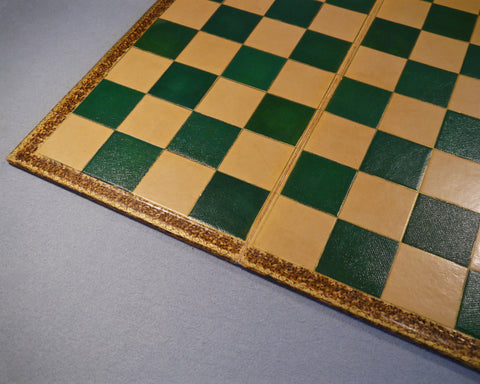 Rare Victorian Leather Chess Board