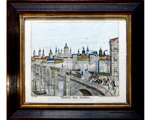 Antique Print of the City of London