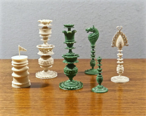 Indian Chess Set, Vizagapatam, 19th century