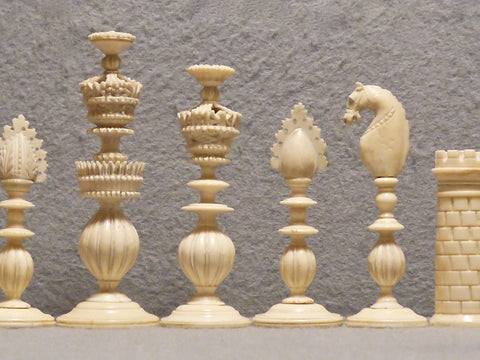 Indian Vizagapatam Chess Set, circa 1830