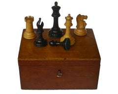 Antique Staunton Chess Set in the Whitty Style