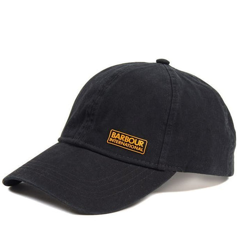 Barbour Cap International baseball cap Norton Drill Black MHA0474BK111