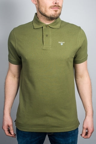Barbour Polo- Tartan Pique-Burnt Olive-MML0012OL39 front