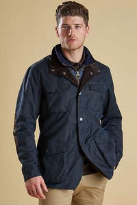 Barbour Ogston-Mens Wax Jacket-Navy-MWX0700NY51 front