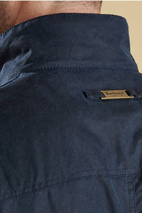 Barbour Ogston-Mens Wax Jacket-Navy-MWX0700NY51 label