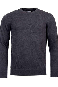 Barbour Sweater-Pima Cotton-Crew Neck-Charcoal-MKN0932CH91 logo