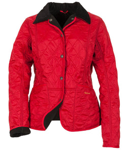 Barbour Liddesdale Ladies Red Polarquilt Jacket