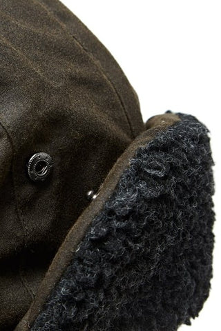 Barbour Trapper Hat-Fleece Lined-Olive-MHA0033OL51 flap