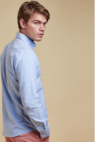 Barbour Shirt Stapleton Stanley in Blue tailored fit MSH3332BL51