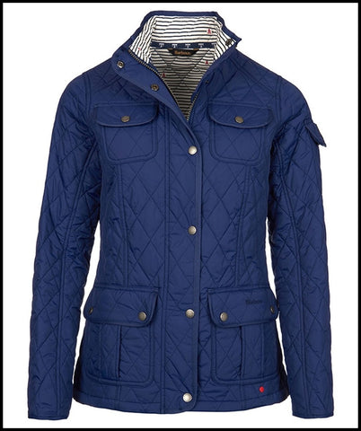 Barbour Buryhead Ladies quilted jacket in Naval Blue LQU0614BL53 front
