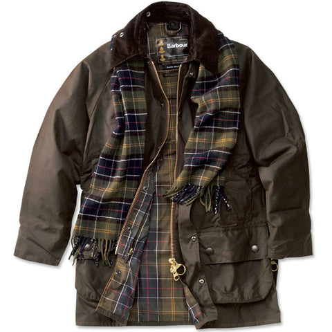 Barbour Beaufort-Classic Wax Jacket-Olive-MWX0002OL71  classic lining