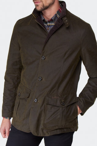 Barbour Lutz Wax Jacket -Olive MWX0566OL51 side