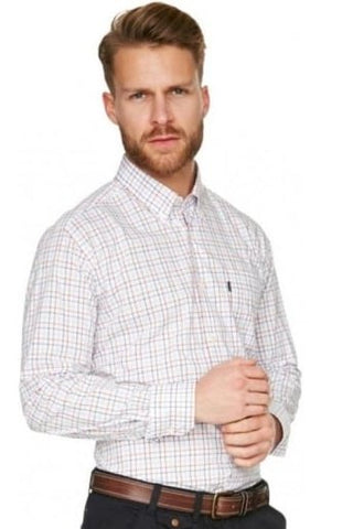 Barbour Shirt Patrick Tailored fit in Sandstone check  MSH3354SN31