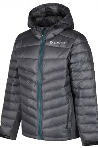 Greys Micro Quilt Hooded jacket in Steel 1436300