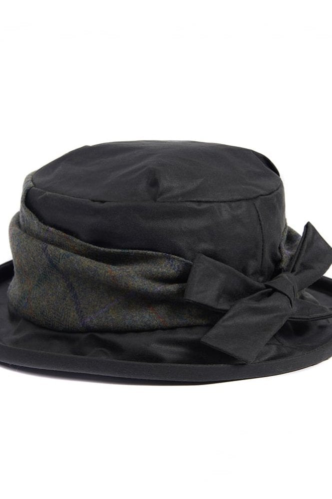Barbour Hat Ladies Wax with Tweed Brim in Olive LHA0291OL71 - Smyths  Country Sports 2ddbc722805