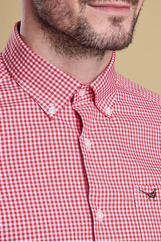 Barbour Red check Shirt Berkshire MSH3705RE51