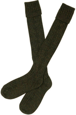 Barbour Tweed Gun Stockings in Olive/Tweed MSO0004OL92