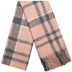 Barbour Scarf Boucle-Wrap-Pink/Grey-LSC0130PI31 check,