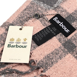 Barbour Scarf Boucle-Wrap-Pink/Grey-LSC0130PI31