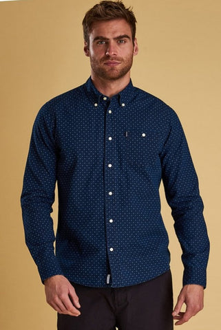 Barbour Shirt-New Indigo-1 Slim Fit-MSH4476IN32