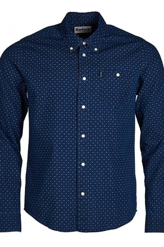 Barbour Shirt-New Indigo-1 Slim Fit-MSH4476IN32 fitted