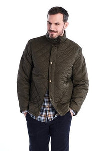 Barbour Quilt-Hawkshead-Olive-MQU1112OL72 fastened