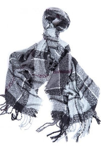 Barbour Scarf Boucle-Wrap-Grey/Juniper-LSC0130GY71 wrap