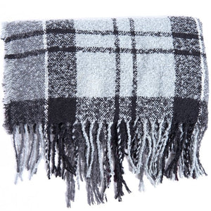 Barbour Scarf Boucle-Wrap-Grey/Juniper-LSC0130GY71 pattern