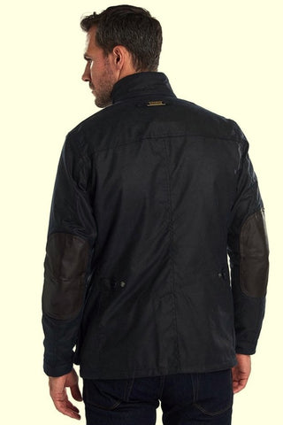 Barbour Ogston-Mens Wax Jacket-Navy-MWX0700NY51 back