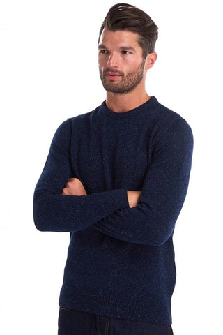 Barbour Sweater-Tisbury Crew Neck-Navy-MKN0844NY91