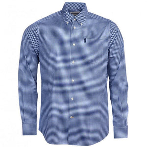 Barbour Shirt-Gingham 10-Regular Fit-Inky Blue-MSH4757BL33 check