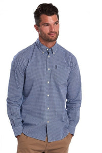 Barbour Shirt-Gingham 10-Regular Fit-Inky Blue-MSH4757BL33