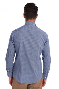 Barbour Shirt-Gingham 10-Regular Fit-Inky Blue-MSH4757BL33 back