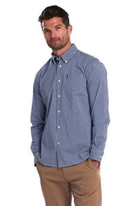 Barbour Shirt-Gingham 10-Regular Fit-Inky Blue-MSH4757BL33 casual