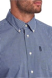 Barbour Shirt-Gingham 10-Regular Fit-Inky Blue-MSH4757BL33 button down