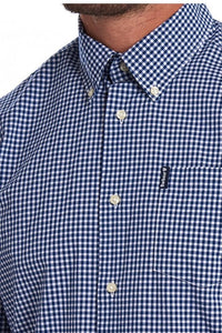 Barbour Shirt-Gingham 10-Regular Fit-Inky Blue-MSH4757BL33 logo