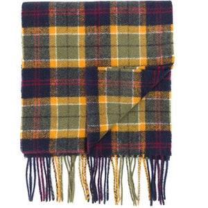 Barbour Scarf-Tartan-Lambswool-Green/Navy/Red-Check-USC0001GN31
