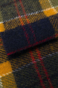 Barbour Scarf-Tartan-Lambswool-Green/Navy/Red-Check-USC0001GN31 wool