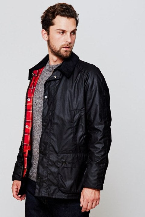 7cee4a1ae80 Barbour Ashby wax Jacket just £189 in Black MWX0339BK71 - Smyths ...