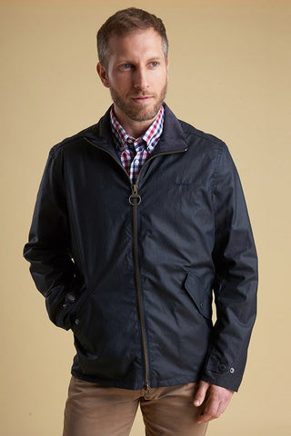Barbour Claxton Mens wax jacket in navy MWX1323NY92