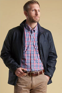 Barbour Claxton new Mens wax jacket in navy MWX1323NY92