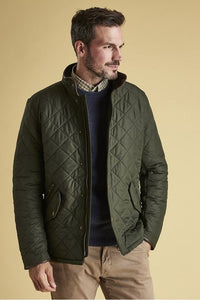 Barbour Powell Mens Quilted jacket -Sage/Olive-New-MQU0281GN72