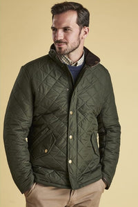 Barbour Powell Quilted jacket -Sage/Olive-New-MQU0281GN72